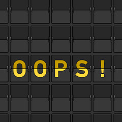 Oops Flip Board