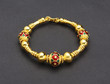 Enamel golden bracelet, Thai ancient style