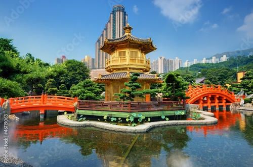 Nan Lian Garden's Golden Pavilion in Hong Kong