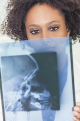 African American Female Woman Doctor X Ray