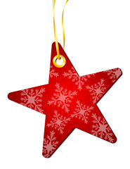 Weihnachtlicher Anhänger - Stern (I)