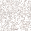 Floral seamless pattern in retro style. 10 eps vector illustrati