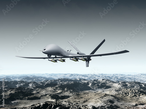canvas print picture Unmanned Combat Air Vehicle