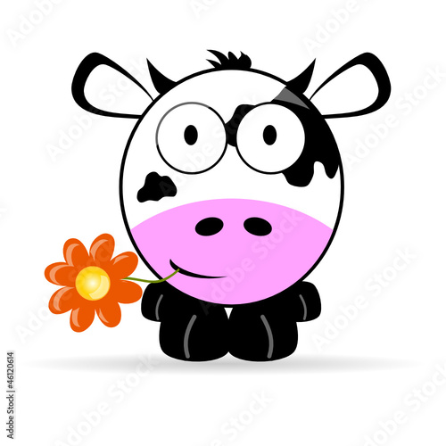 sweet and cute cow vector illustration