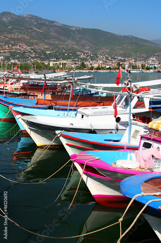 Colorful Wooden Boats of Alanya