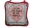 Pin cushion with heart and message