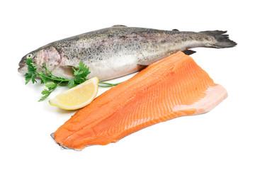 trota intera e filetto - trout and fillet