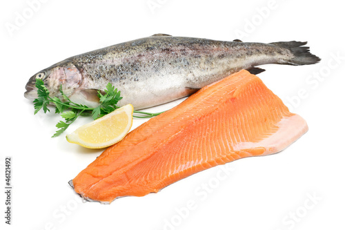 trota intera e filetto - trout and fillet