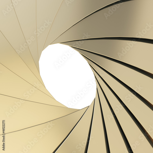 Abstract background as a golden shutter mechanism