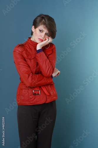 beautiful and unhappy young woman