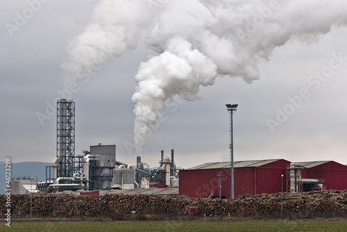 Wood processing factory pollution