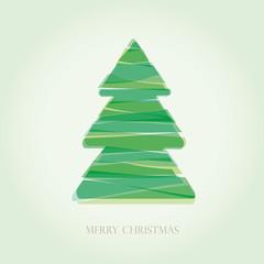 Simple vector christmas tree  - original new year card