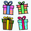 Gifts box cartoon.vector illustration