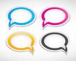 dialog speech bubbles set