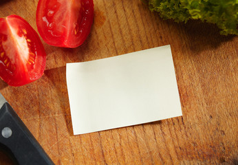A Blank Recipe Card with Ingredients