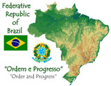 Brazil national emblem map symbol motto