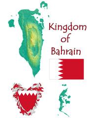 Bahrain national emblem map symbol motto