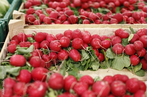 Red beets in a big grocery