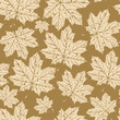 autumn vector seamless pattern with maple leaves