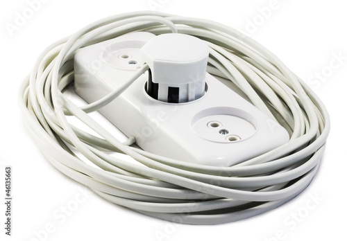 extension cord with plugs and socket