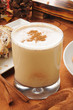 Egg nog with cinnamon and nutmet