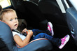 cute girl in car seat