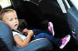 cute girl in car seat