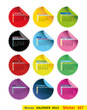 Monats-Kalender 2013 Sticker SET