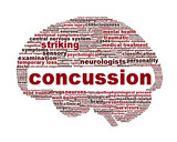 Concussion traumatic injury icon design