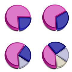 3D Pie Charts 3