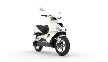 White Scooter Showroom