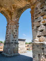 ancient roman city of caparra in caceres extremadura spain