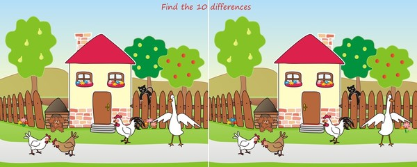house-find 10 differences