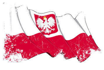 Poland State Flag Grunge