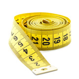 Whirled yellow tape measure
