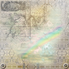 Marble background and rainbow