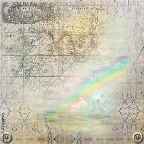 Fototapeten,alt,textur,regenbogen,marmor