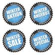 Winter Buttons - Sale - Angebot - Special - Blau/Schwarz/Silber