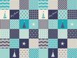 seamless patchwork christmas pattern