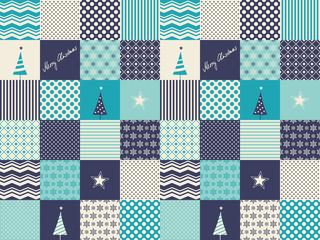 seamless patchwork christmas pattern