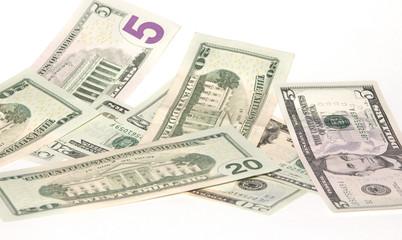 heap of banknotes U.S. dollars