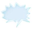 3d light blue speech bubble