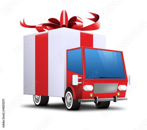 geschenke lieferwagen