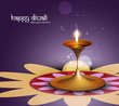 Happy diwali colorful beautiful illuminating diya background