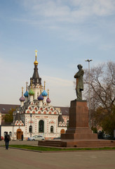 Monument Chernyshevsky and the Chapel.