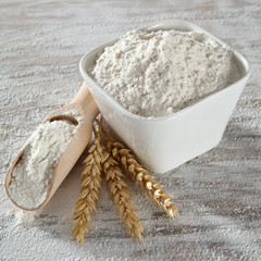 decoration of flour