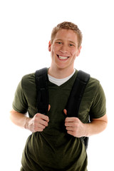 College Student With Huge Smile Holding Bookbag