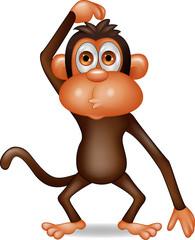 Funny monkey thinking