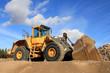 Leinwanddruck Bild - Wheel Loader at Sand Pit