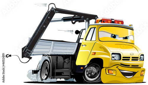 Canvas Cartoon cars Vector Cartoon Tow Truck